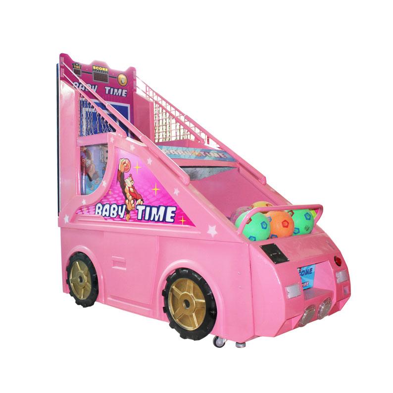 粉红儿童篮球机
